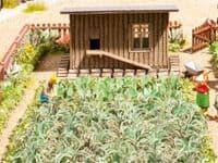 NOCH HO Scale Vegetable Garden Laser Cut Minis Kit # N14107